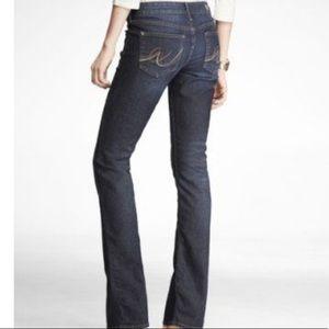 Express MIA Dark Wash Bootcut Jeans